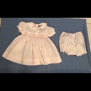 Carriage Boutiques Smocked Dress & Bloomers - 6M